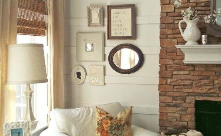 Cottage Living Room Eclectic Wall Collage Hgtv