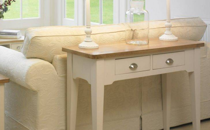Cottage Oak Painted Hall Console Table Furniture
