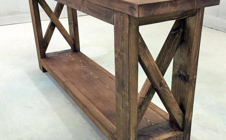 Cottage Sofa Table Console Tables Rustic Foter Thesofa