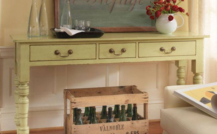 Cottage Sofa Table Park Designs Farmhouse French Wood