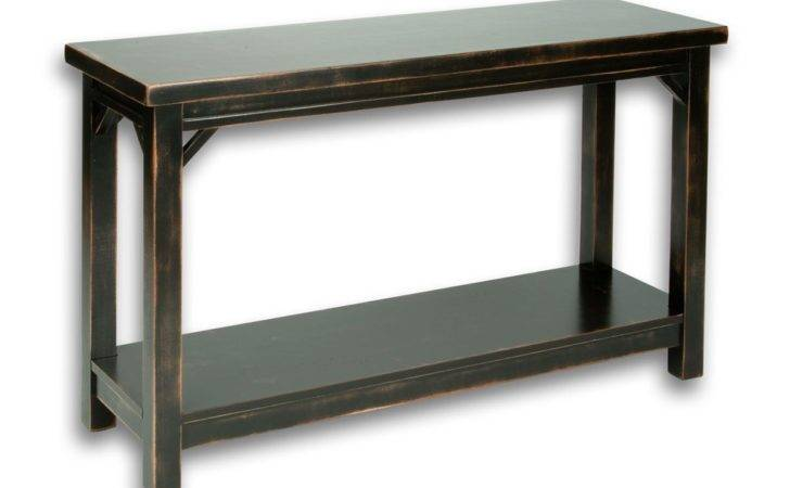 Cottage Sofa Table Style Console Drawers White