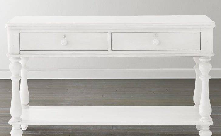 Cottage Style Console Table Drawers