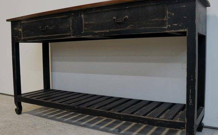 Cottage Style Painted Buffet Console Table Chairish