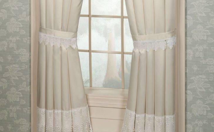 Cotton Lace Curtains Tab Top Country Linen