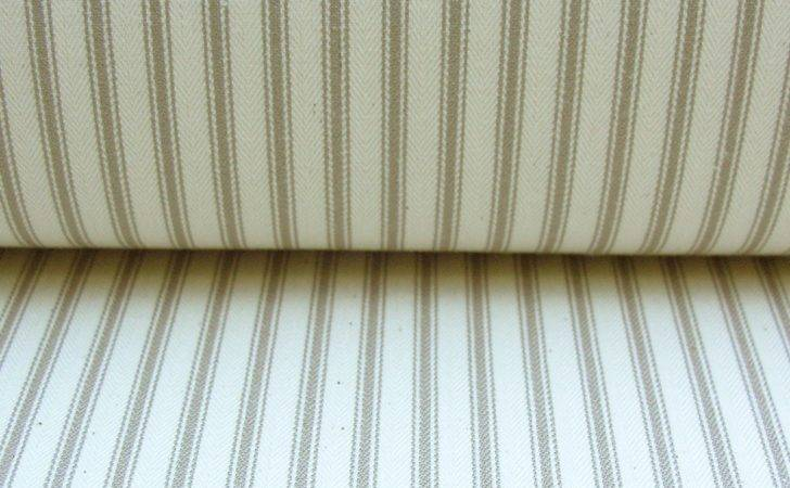 Cotton Ticking Fabric Flax