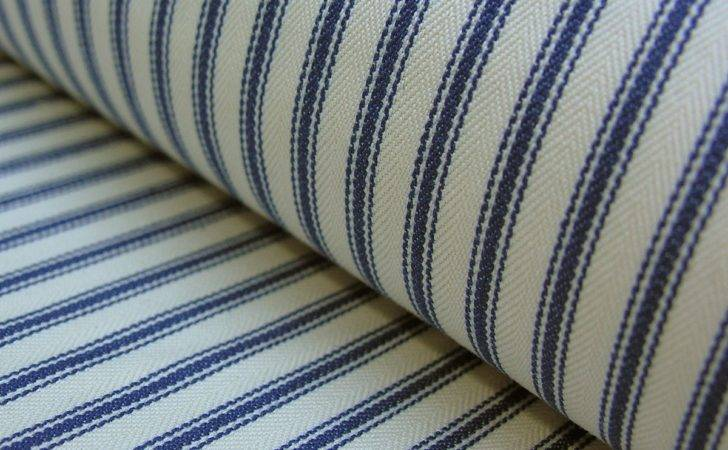 Cotton Ticking Fabric Navy