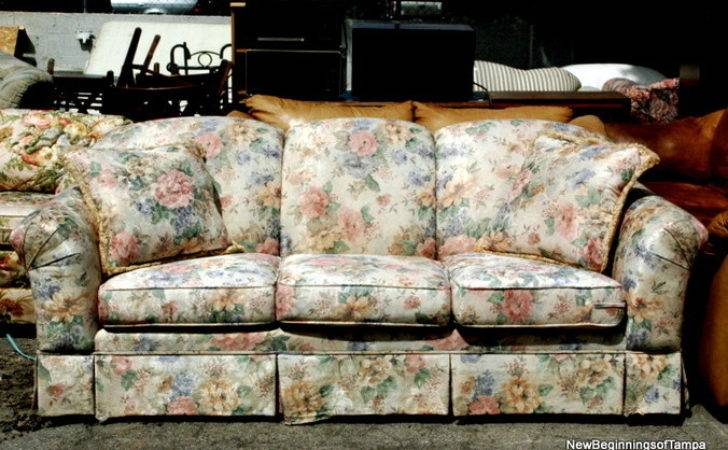Couch Floral Print Flower Sofa