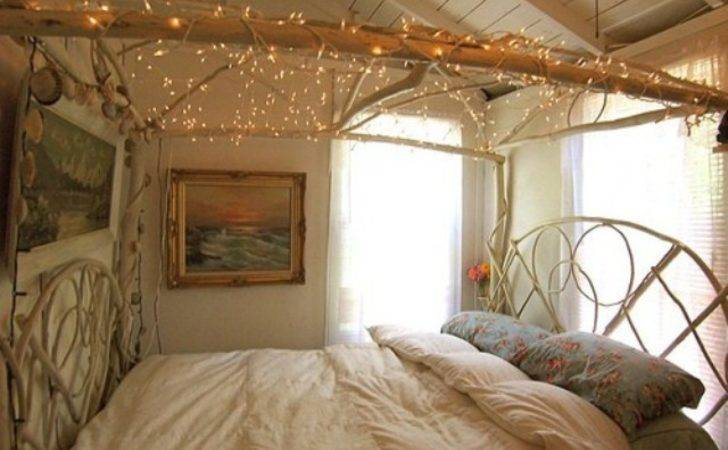 Country Bedroom Decorating Ideas Fairy Lights