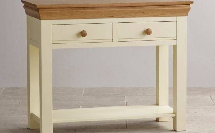 Country Cottage Console Table Painted Oak