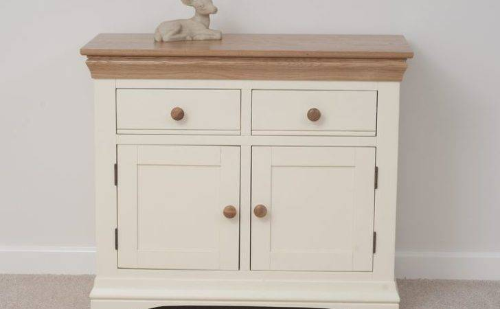 Country Cottage Painted Funiture Cabinet Cream Small