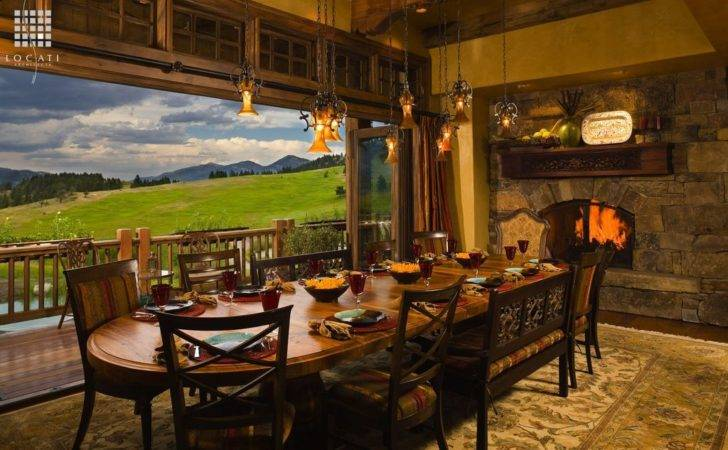 Country Dining Room Natural Wood Window Frame