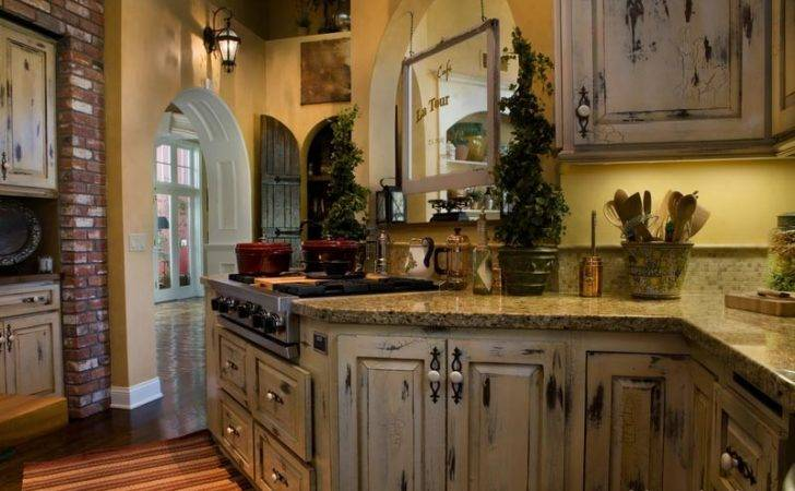 Country French Kitchen Cabinets Antique White