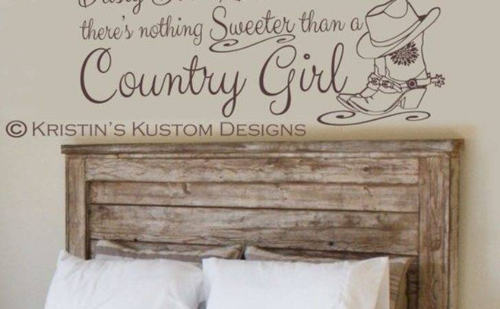 Country Girl Vinyl Wall Decal Proverbs Design Etsy