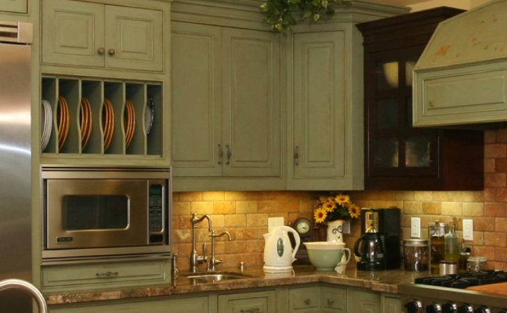 Country Green Kitchen Farmhouse Other