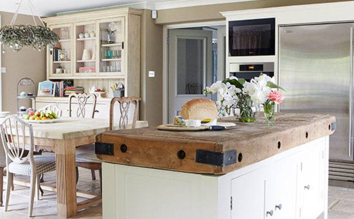 Country Kitchen Large Butcher Block Island