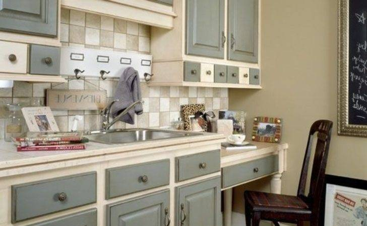 Country Painted Kitchen Cabinets