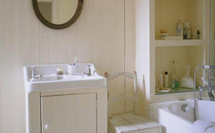 Country Style Bathroom White Paint Walls Housetohome