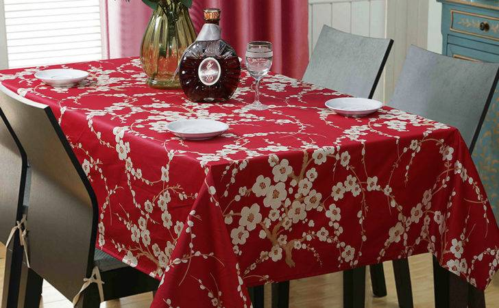 Country Style Flower Print Tablecloth Egyptian Cotton