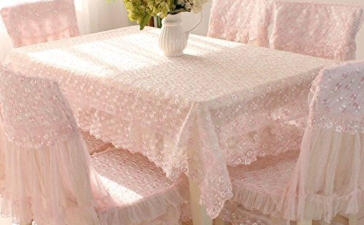 Country Style Pink Check Lace Rectangle Tablecloths