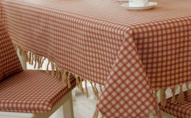 Country Thick Plaid Western Style Food Tables Chairs