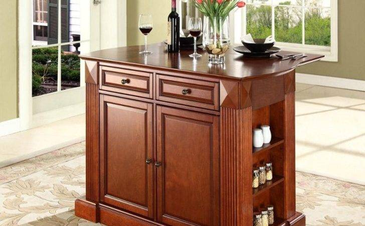 Coventry Cherry Drop Leaf Breakfast Bar Top Kitchen Island