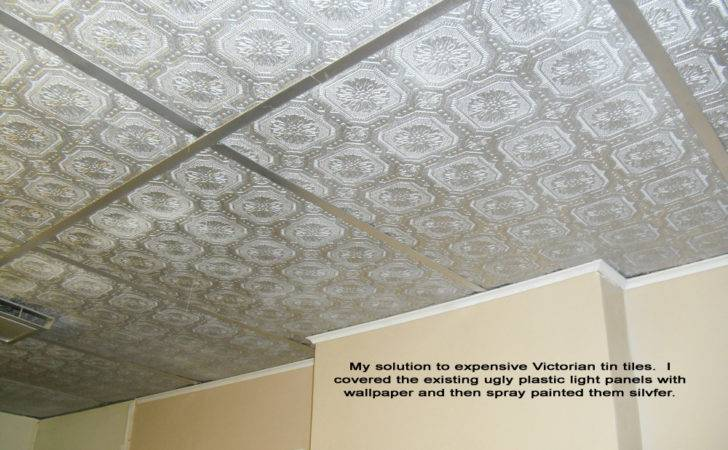 Cover Ugly Drop Ceiling Panels Textured