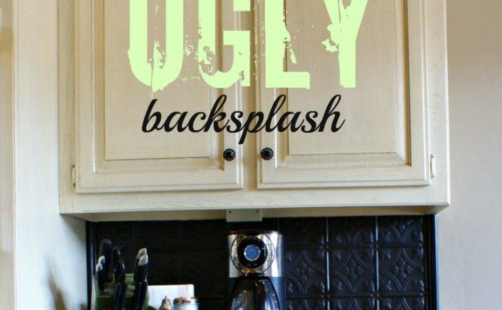 Cover Ugly Kitchen Backsplash Way Back