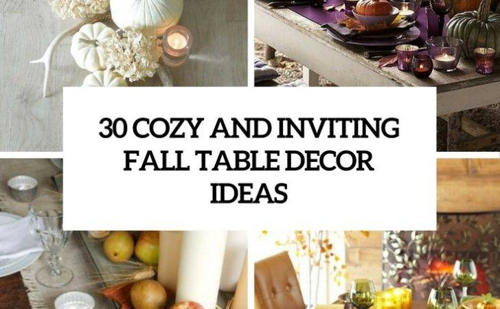 Cozy Inviting Fall Table Cor Ideas Digsdigs