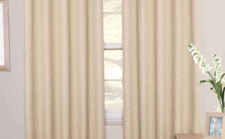 Cream Blackout Curtains Eyelet Home Design Ideas