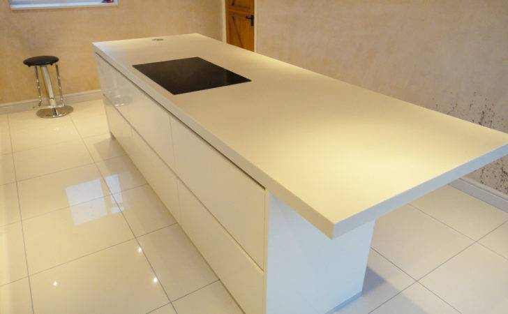 Cream Corian Kitchen Worktop