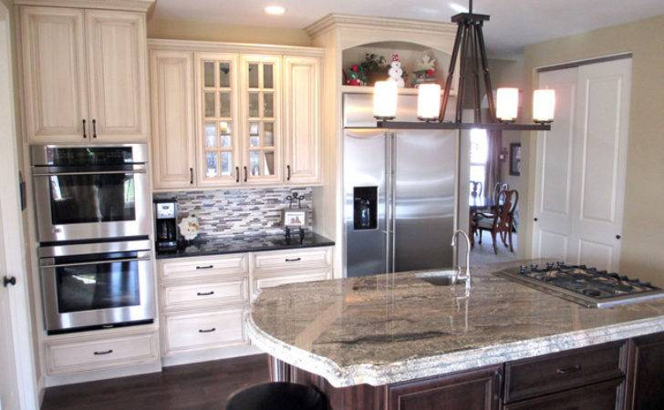 Cream Painted Cabinets Glaze Traditional Kitchen