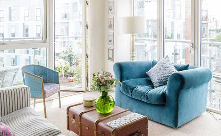 Cream Teal Living Room Decorating Ideal Home