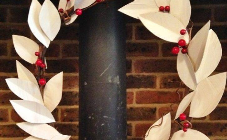 Create Your Own Diy Paper Leaf Wreath Perfect