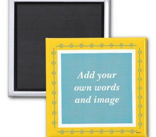Create Your Own Magnet Teal Zazzle