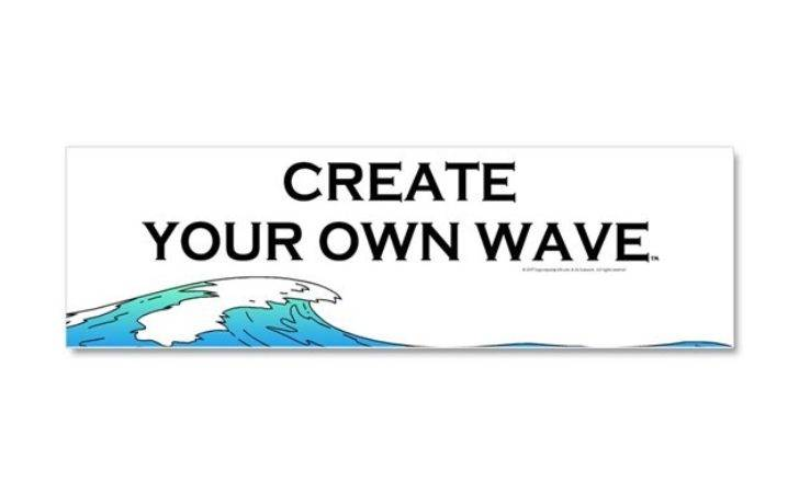 Create Your Own Wave Car Magnet Limitlesspos