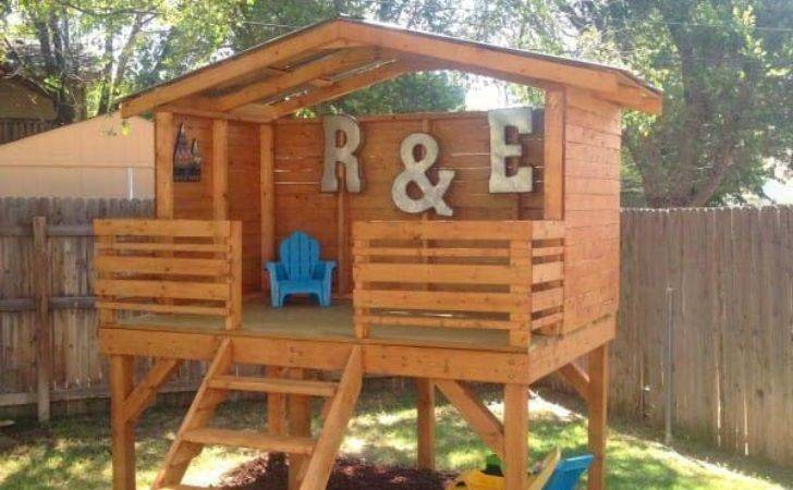 Creative Kids Wooden Playhouses Designs Your Yard