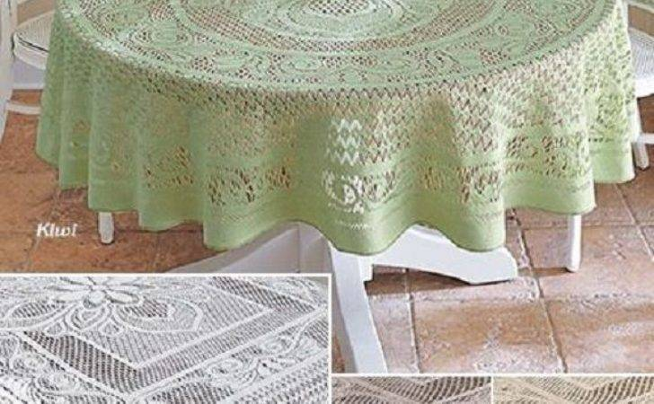 Crochet Lace Tablecloth Cotton Handmade Dining Table
