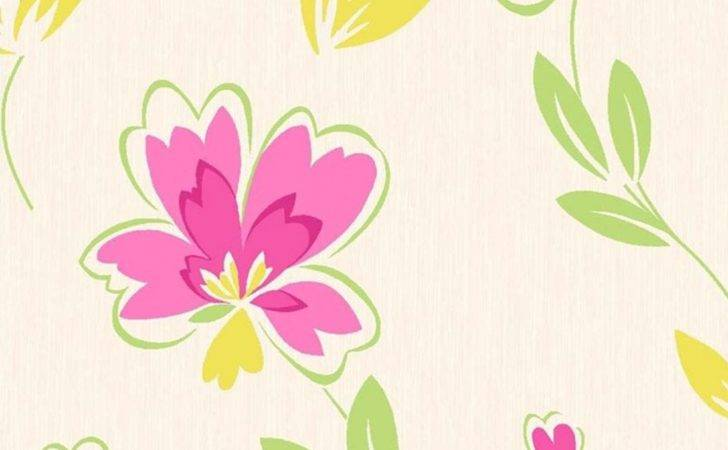 Crown Fresh Floral Pink Green Yellow