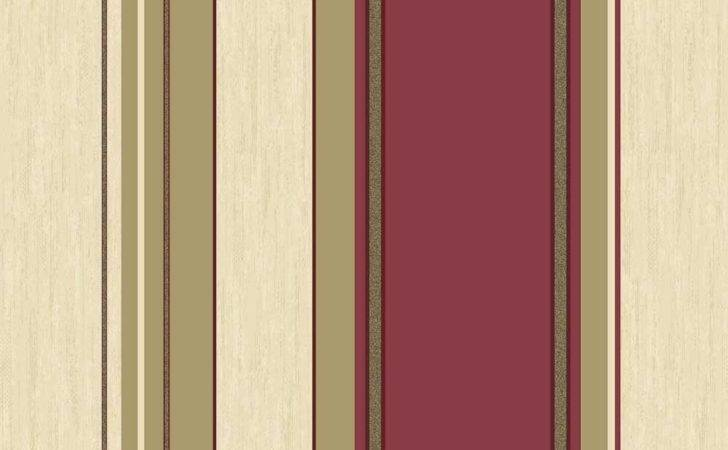 Crown Synergy Striped Rich Red Cream Gold
