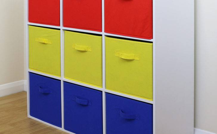 Cube Kids Red Yellow Blue Toy Games Storage Unit Girls