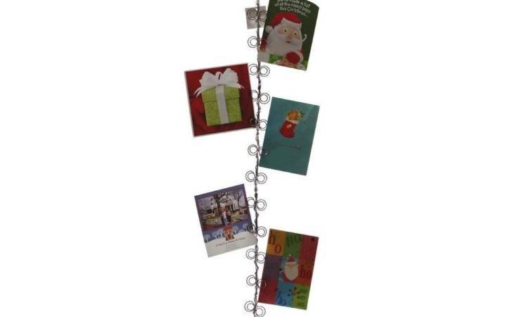 Curly Wire Wall Christmas Card Holder