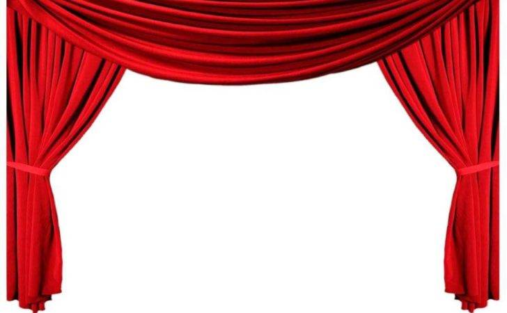 Curtain Clipart Opened Pencil Color