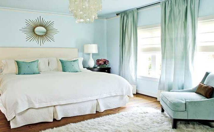 Curtain Color Blue Walls Grayish Wall Bedroom