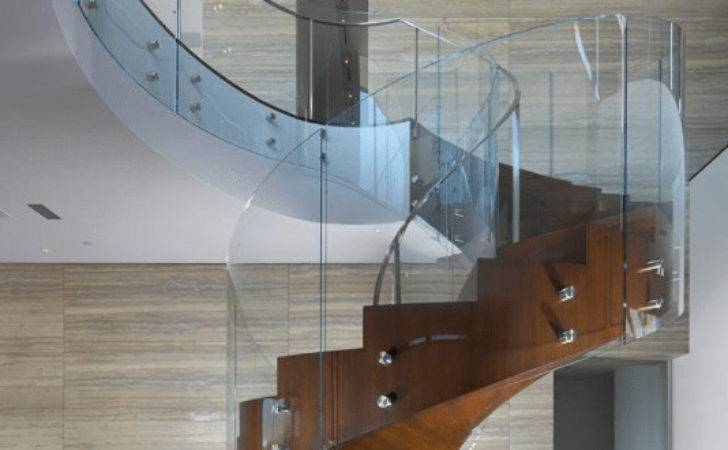 Curved Glass Ireland Staircase Made