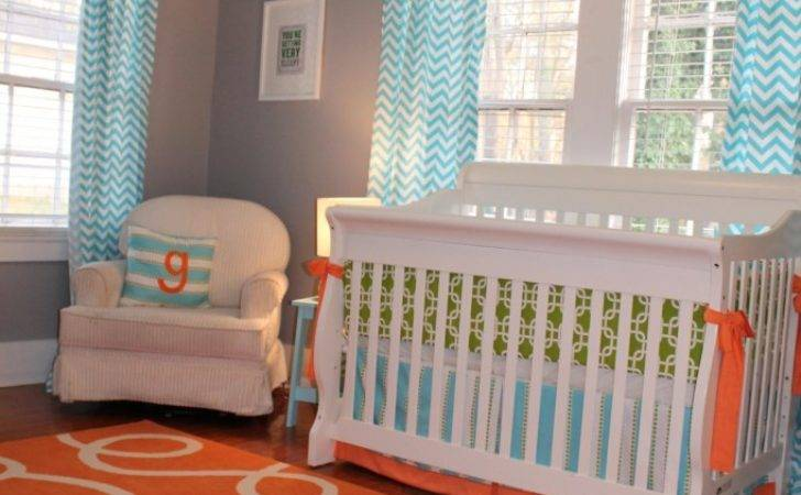 Custom Nursery Art Kimberly Cool Color Combo Orange