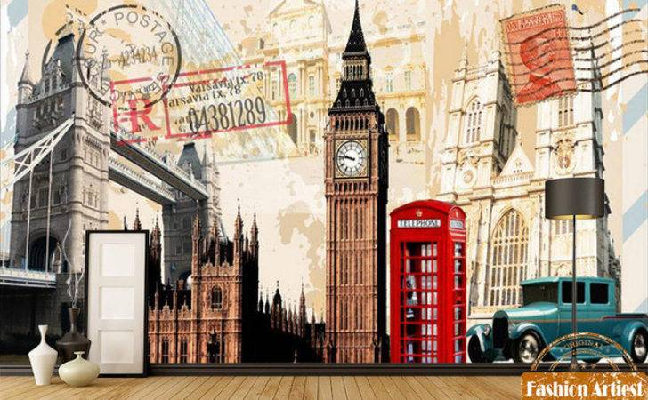 Custom Old Times British Poster Card Mural