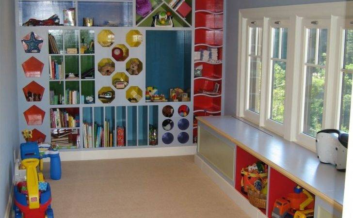 Custom Playroom Storage Cubbies Clay Baker Design Llc