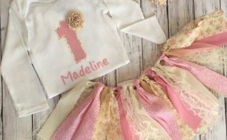 Customized Shabby Chic Birthday Outfit Mksbowtique