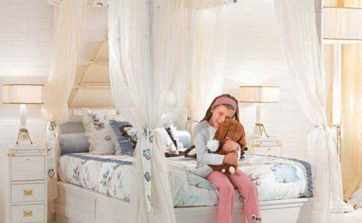 Cute Girl Bedroom White Canopy Bed Interior Design
