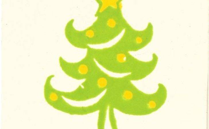Cute Small Christmas Tree Wooden Stamp Stamps